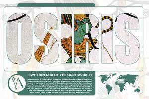 Osiris World Mythology Poster by Christopher Rice