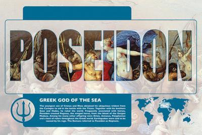 Poseidon Mythology Poster