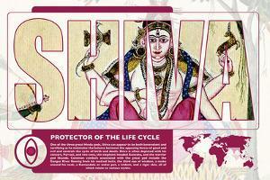 Shiva World Mythology Poster by Christopher Rice
