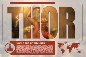 Thor World Mythology Poster by Christopher Rice