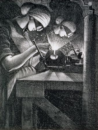 Acetylene Welders, 1917 by Christopher Richard Wynne Nevinson