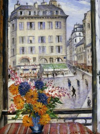 Autumn Bouquet; View from a Paris Window by Christopher Richard Wynne Nevinson