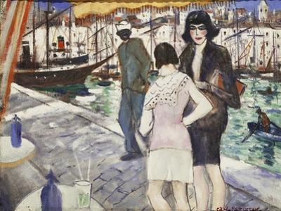 By the Quay by Christopher Richard Wynne Nevinson