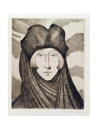 Edith Sitwell by Christopher Richard Wynne Nevinson