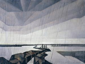 Flooded Trench on the Yser, 1916 by Christopher Richard Wynne Nevinson