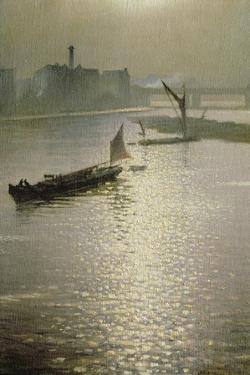From Waterloo Bridge: Sun Bursting Through Fog, C.1924 by Christopher Richard Wynne Nevinson