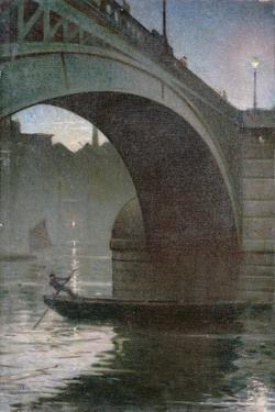 Old Southwark Bridge, C.1919 by Christopher Richard Wynne Nevinson