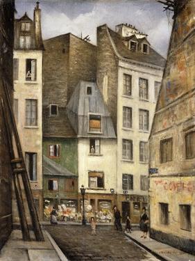 Rue St. Julien Le Pauvre, Paris by Christopher Richard Wynne Nevinson