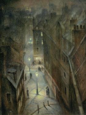 Soho Twilight, C.1924 by Christopher Richard Wynne Nevinson