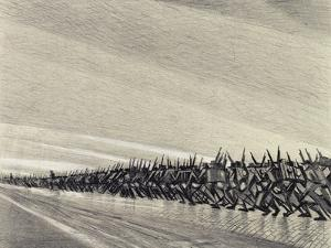 Study for 'A Column on the March', C.1914 by Christopher Richard Wynne Nevinson