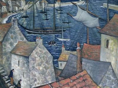 The Old Harbour by Christopher Richard Wynne Nevinson