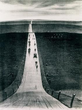 The Road from Arras to Bapaume, 1918 by Christopher Richard Wynne Nevinson