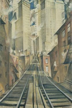 The Soul of the Soulless City (New York - an Abstraction) by Christopher Richard Wynne Nevinson