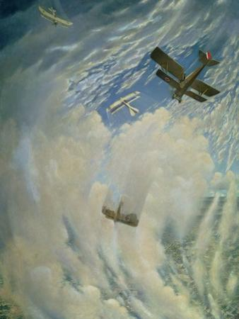 War in the Air, 1918 by Christopher Richard Wynne Nevinson
