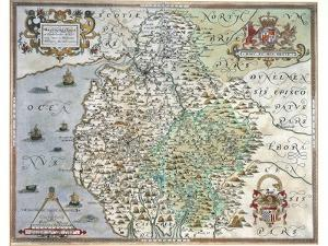 A Map of Westmorland and Cumberland, 1576 by Christopher Saxton