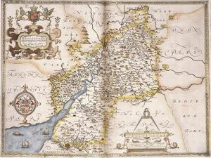Gloucester(Shire), 1579 by Christopher Saxton