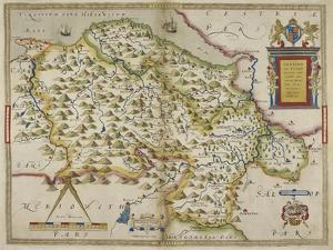 Map Of Denbighshire and Flintshire by Christopher Saxton