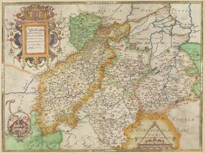 Map of Northampton and Adjacent Counties, from 'Atlas of England and Wales', 1576 by Christopher Saxton