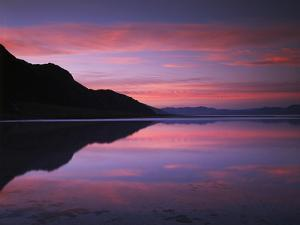 California, Death Valley National Park, Sunrise Reflects in Badwater by Christopher Talbot Frank
