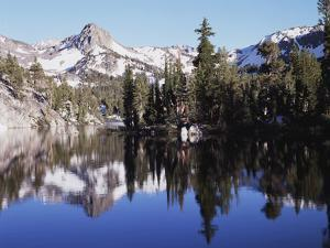 California, Inyo Nf, Mammoth Lakes, Reflection in Skelton Lake by Christopher Talbot Frank