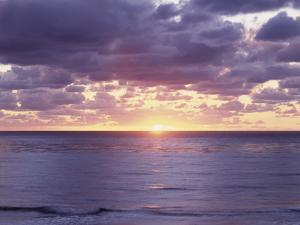 California, San Diego, Sunset Cliffs, Sunset over the Pacific Ocean by Christopher Talbot Frank