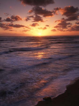 California, San Diego, Sunset Cliffs, Waves Crashing on a Beach