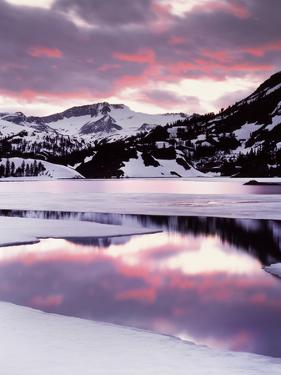 California, Sierra Nevada, Sunset, Mountains Reflecting on Ellery Lake by Christopher Talbot Frank