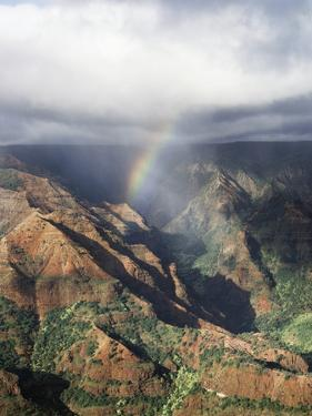 Hawaii, Kauai, Waimea Canyon State Park, a Rainbow over Waimea Canyon by Christopher Talbot Frank