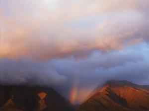Hawaii, Maui, Rainbow over the Western Mountains of Maui by Christopher Talbot Frank