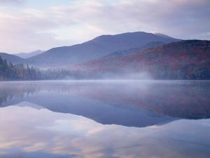 New York, Adirondack Mts, Algonquin Peak and Fall by Heart Lake by Christopher Talbot Frank