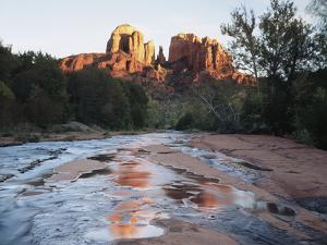 Sedona, Cathedral Rock Reflecting in Oak Creek at Red Rock Crossing by Christopher Talbot Frank