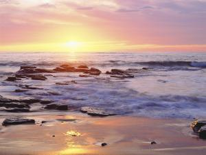 Sunset Cliffs Beach on the Pacific Ocean at Sunset, San Diego, California, USA by Christopher Talbot Frank