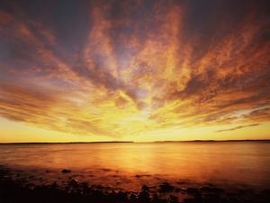USA, Maine, Acadia National Park, Sunrise over the Atlantic Ocean by Christopher Talbot Frank