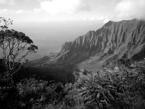 View Above the Na Pali Coast, Kauai, Hawaii, USA by Christopher Talbot Frank