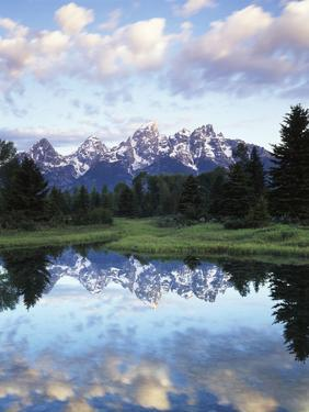 Wyoming, Grand Teton National Park, Rocky Mts, the Grand Tetons and Snake River by Christopher Talbot Frank