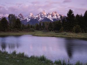 Wyoming, Grand Teton National Park, the Grand Tetons Above the Snake River by Christopher Talbot Frank