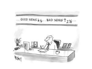 Good News down, Bad News up - Cartoon by Christopher Weyant