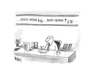 Good News down, Bad News up - Cartoon by Christopher Weyant