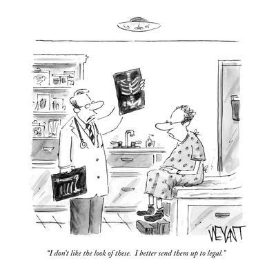 """""""I don't like the look of these.  I better send them up to legal."""" - New Yorker Cartoon"""