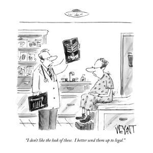 """I don't like the look of these.  I better send them up to legal."" - New Yorker Cartoon by Christopher Weyant"