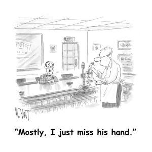 """Mostly, I just miss his hand."" - Cartoon by Christopher Weyant"