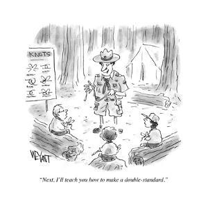 """""""Next, I'll teach you how to make a double standard."""" - Cartoon by Christopher Weyant"""