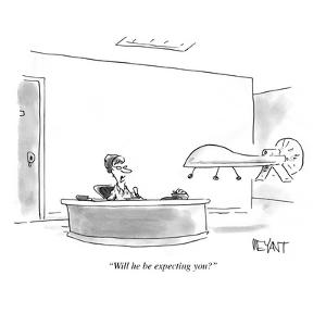 """""""Will he be expecting you?"""" - Cartoon by Christopher Weyant"""