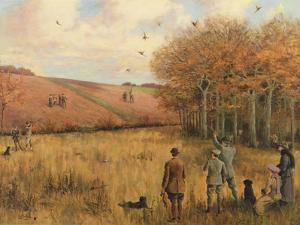 Pheasant Shooting by Christopher William Strange