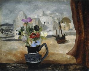 Anemones In A Cornish Window by Christopher Wood
