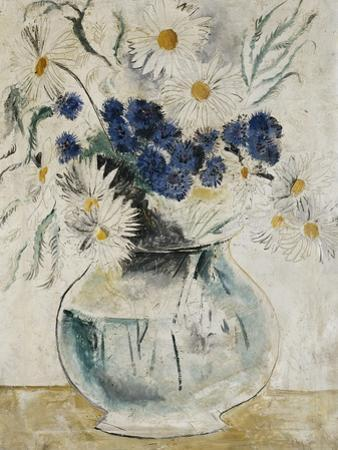 Daisies and Cornflowers in a Glass Bowl, 1927