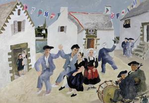 Dancing Sailors, Brittany, France by Christopher Wood