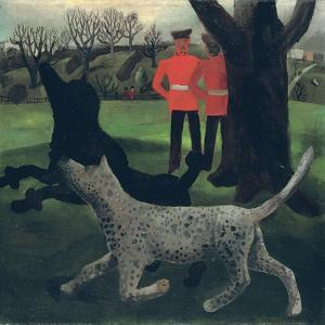 Dogs at Play, 1927 by Christopher Wood