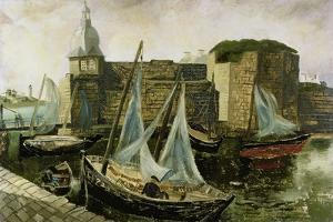 La Ville-Close, Concarneau, Brittany, 1930 by Christopher Wood