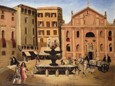 Square in Rome, 1925